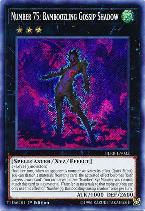 Number 75 Bamboozling Gossip Shadow - BLRR-EN032 - Secret Rare 1st Edition-Cherry Collectables