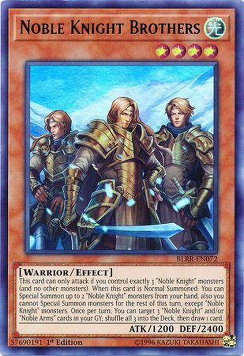 Noble Knight Brothers - BLRR-EN072 - Ultra Rare 1st Edition-Cherry Collectables