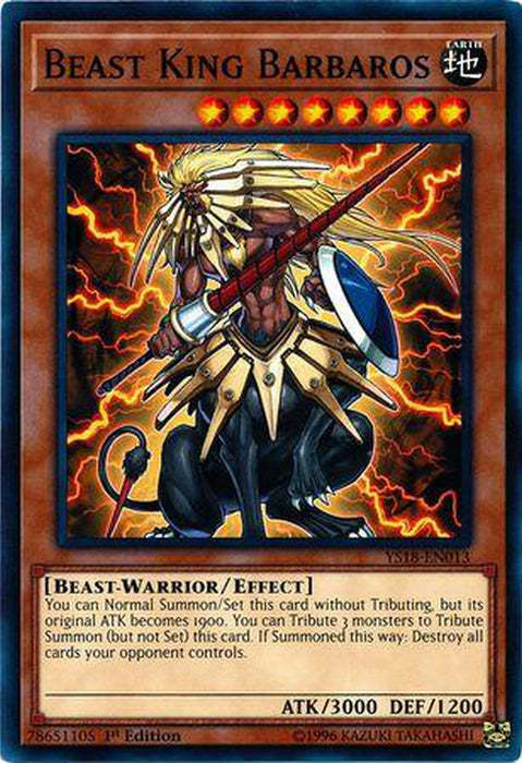 Beast King Barbaros - YS18-EN013 - Common 1st Edition-Cherry Collectables