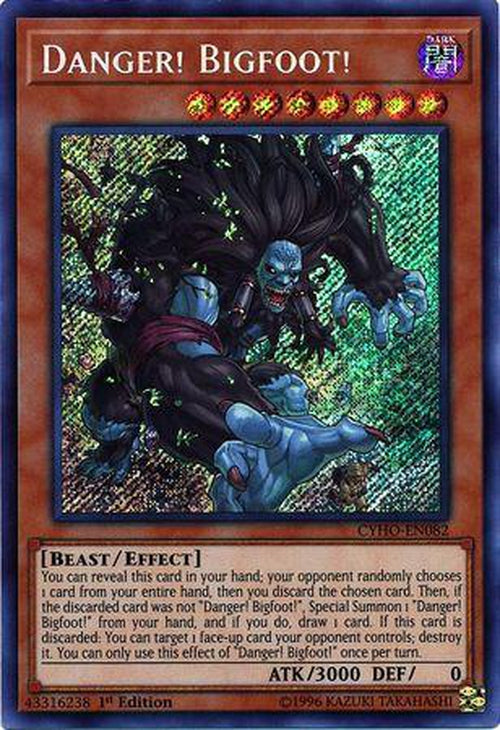 Danger! Bigfoot! - CYHO-EN082 - Secret Rare 1st Edition-Cherry Collectables