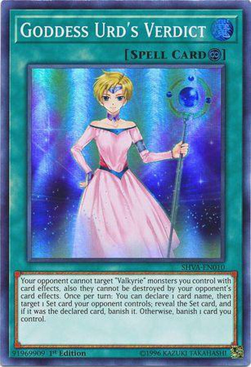Goddess Urd's Verdict - SHVA-EN010 - Super Rare 1st Edition-Cherry Collectables
