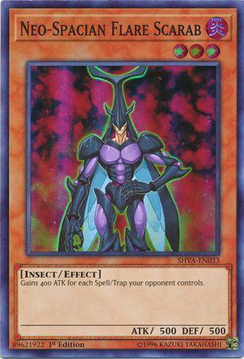Neo-Spacian Flare Scarab - SHVA-EN033 - Super Rare 1st Edition-Cherry Collectables
