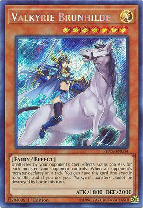 Valkyrie Brunhilde - SHVA-EN004 - Secret Rare 1st Edition-Cherry Collectables