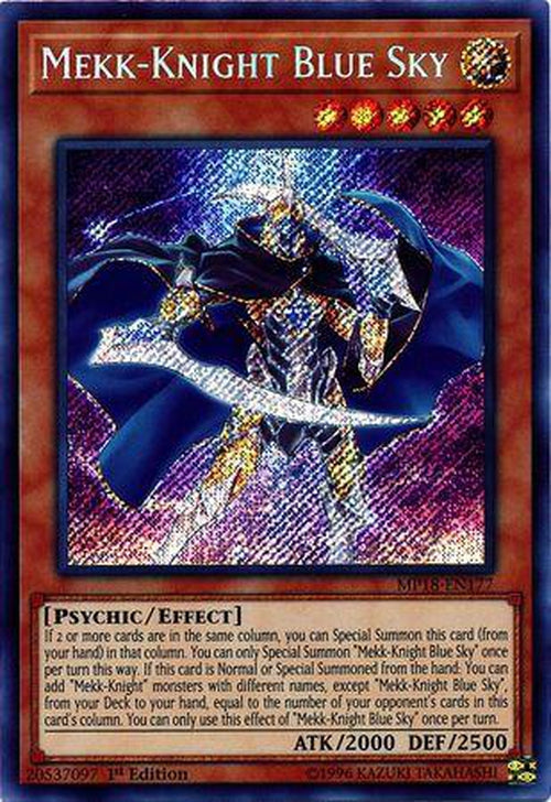 MP18-EN183 Holo Foil Yugioh 2018 Mega Pack 1st Mekk-Knight Purple Nightfall