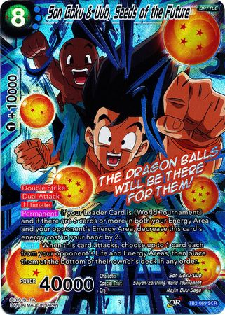 Son Goku & Uub, Seeds of the Future - TB2-069 - Secret Rare SCR-Cherry Collectables