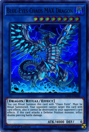Blue-Eyes Chaos MAX Dragon - LED3-EN000 - Ultra Rare 1st Edition-Cherry Collectables