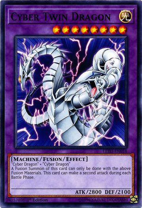Cyber Twin Dragon - LED3-EN018 - Common 1st Edition-Cherry Collectables