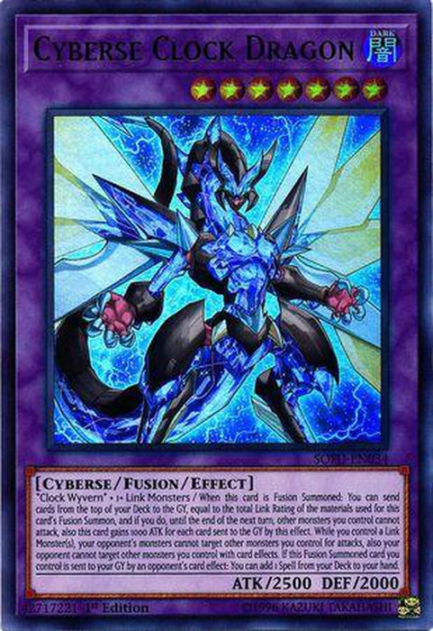 Cyberse Clock Dragon - SOFU-EN034 - Ultra Rare 1st Edition-Cherry Collectables
