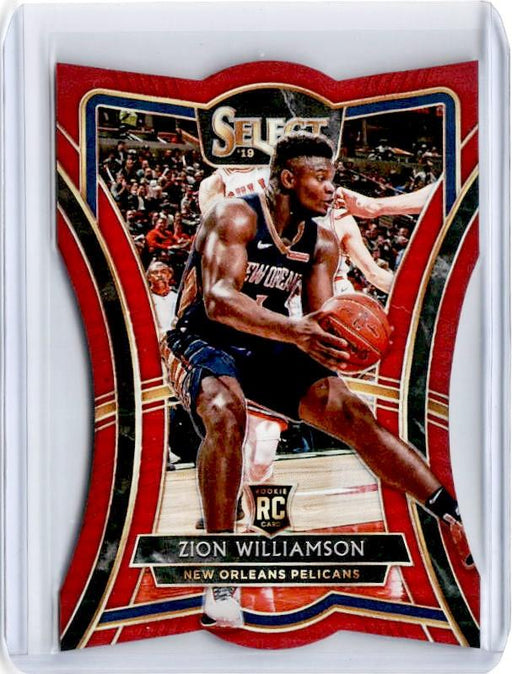 2019-20 Select ZION WILLIAMSON Red Prizm 2/175 Die Cut #199-Cherry Collectables
