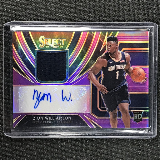2019-20 Select ZION WILLIAMSON Rookie Jersey Auto Purple 41/99-Cherry Collectables