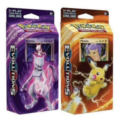 Pokemon XY Evolutions Theme Deck Combo - Mewtwo & Pikachu-Cherry Collectables