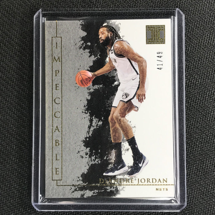 2019-20 Impeccable DEANDRE JORDAN Gold Base 41/49-Cherry Collectables