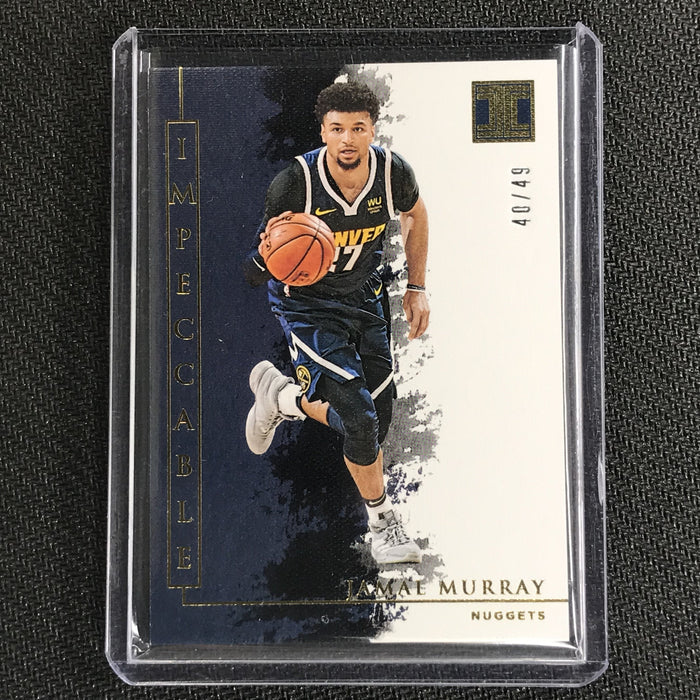 2019-20 Impeccable JAMAL MURRAY Gold Base 40/49-Cherry Collectables