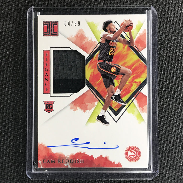 2019-20 Impeccable CAM REDDISH Rookie Jersey Auto 4/99-Cherry Collectables