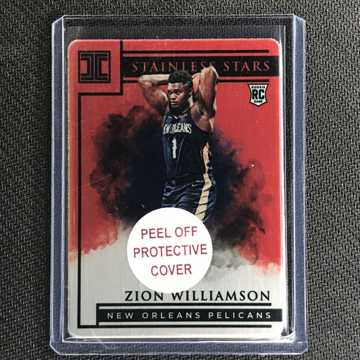 2019-20 Impeccable ZION WILLIAMSON Rookie Stainless Red 56/60-Cherry Collectables