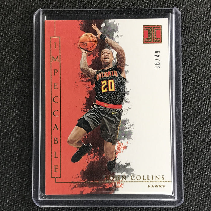 2019-20 Impeccable JOHN COLLINS Gold Base 36/49-Cherry Collectables