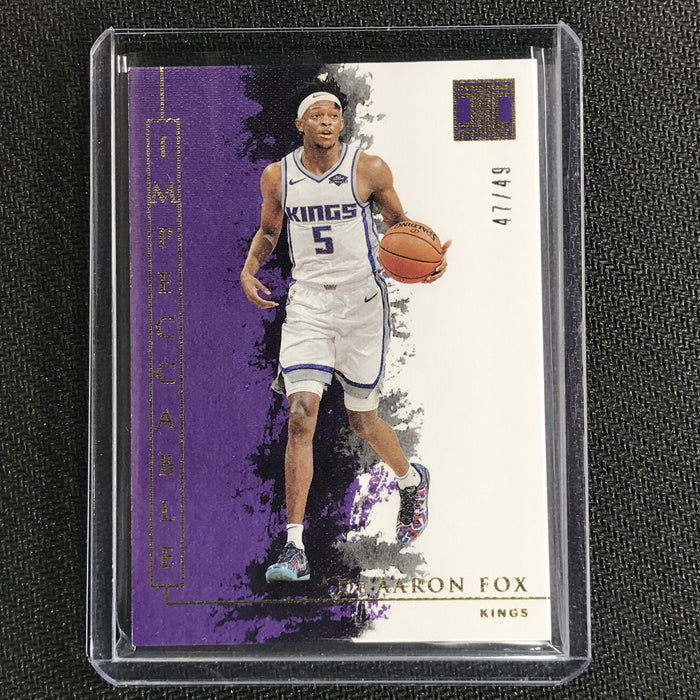 2019-20 Impeccable DE'AARON FOX Gold Base 47/49-Cherry Collectables