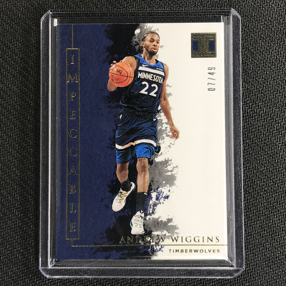 2019-20 Impeccable ANDREW WIGGINS Gold Base 7/49-Cherry Collectables
