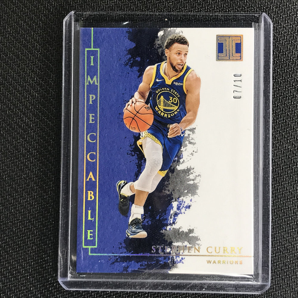 2019-20 Impeccable STEPHEN CURRY Holo Gold Base 7/10-Cherry Collectables