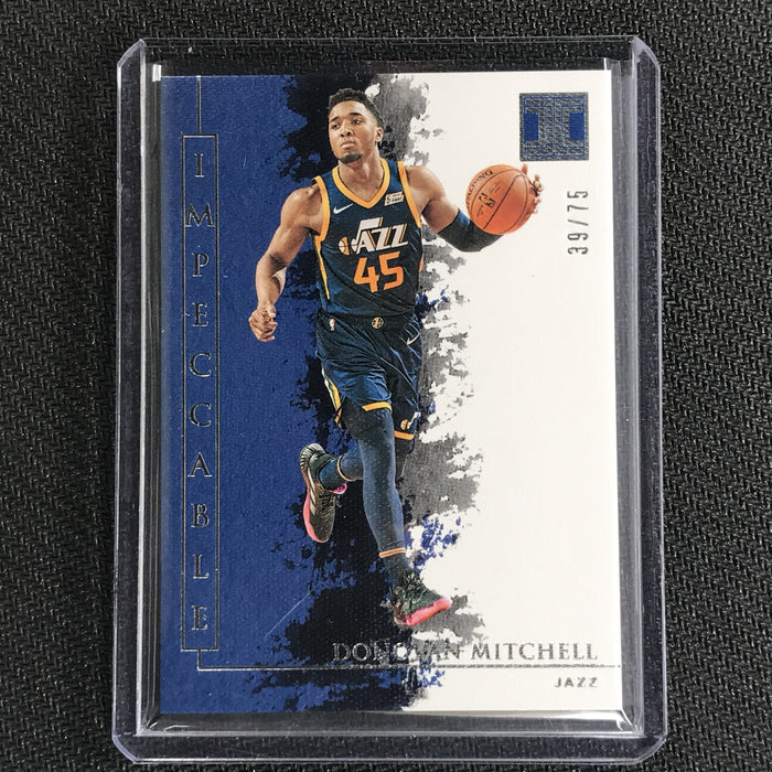 2019-20 Impeccable DONOVAN MITCHELL Silver Base 39/75-Cherry Collectables