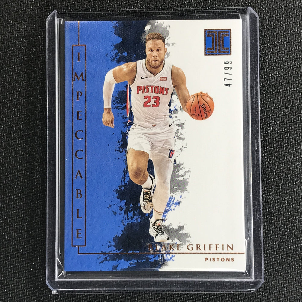 2019-20 Impeccable BLAKE GRIFFIN Bronze Base 47/99-Cherry Collectables