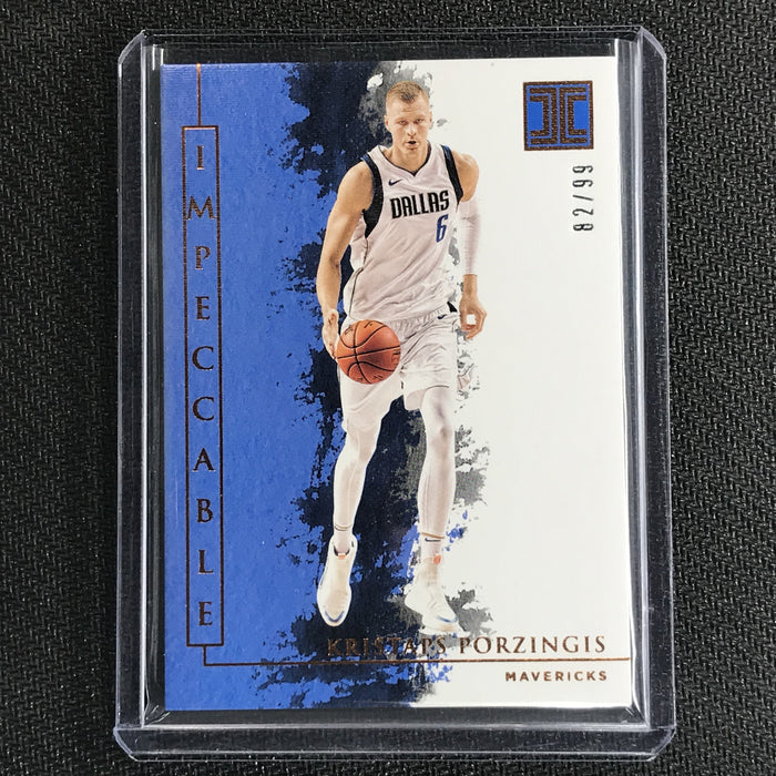 2019-20 Impeccable KRISTAPS PORZINGIS Bronze Base 82/99-Cherry Collectables