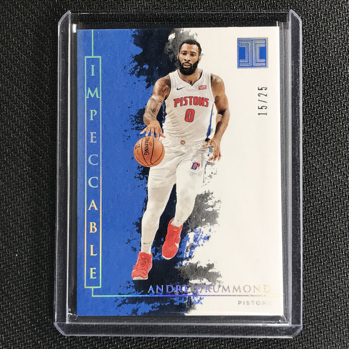 2019-20 Impeccable ANDRE DRUMMOND Holo Silver Base 15/25-Cherry Collectables