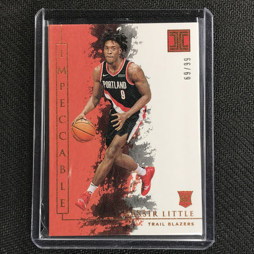 2019-20 Impeccable NASSIR LITTLE Bronze Base Rookie 69/99-Cherry Collectables
