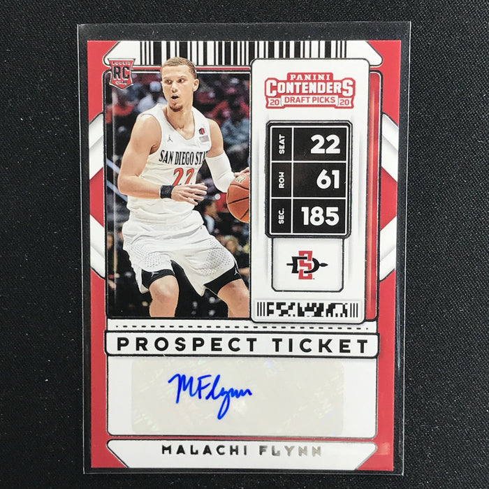 2020 Contenders Draft Picks MALACHI FLYNN Prospect Ticket Auto #97 (E)-Cherry Collectables