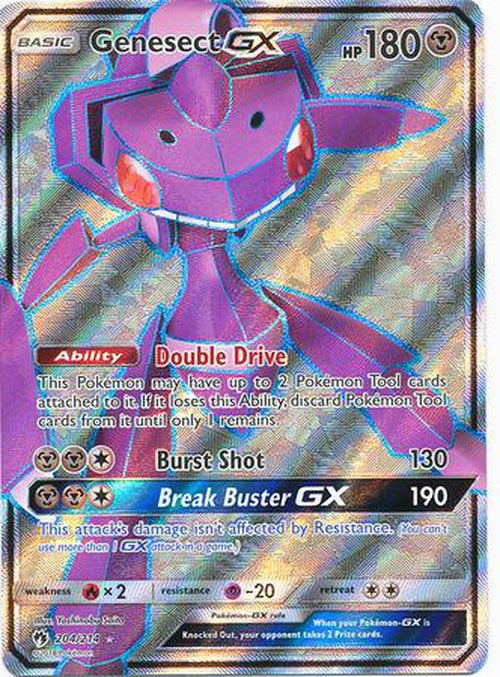 Genesect GX - 204/214 - Full Art Ultra Rare - Lost Thunder-Cherry Collectables