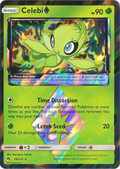 Celebi Prism Star - 19/214 - Holo Rare - Lost Thunder-Cherry Collectables