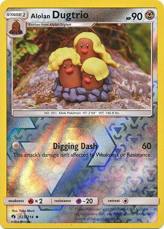 Alolan Diglett - 122/214 - Common Reverse Holo-Cherry Collectables