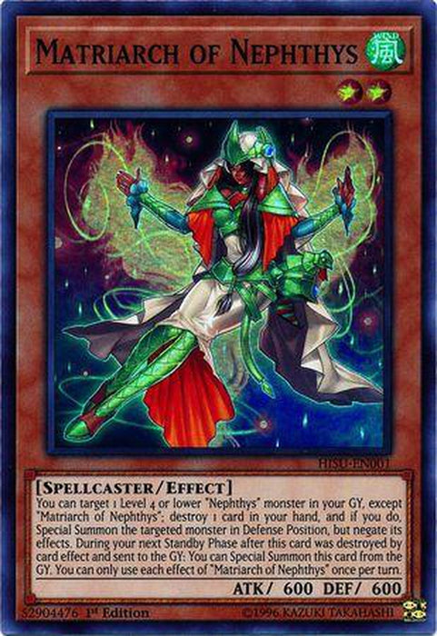Matriarch of Nephthys - HISU-EN001 - Super Rare 1st Edition-Cherry Collectables