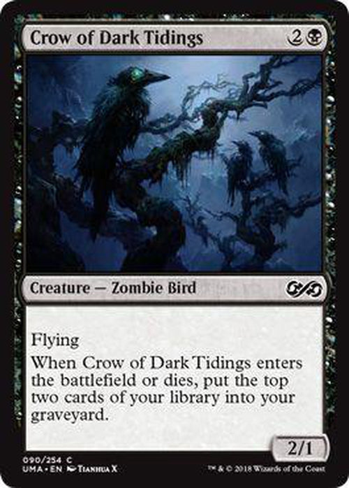 Crow of Dark Tidings 090/254 - UMA-Cherry Collectables