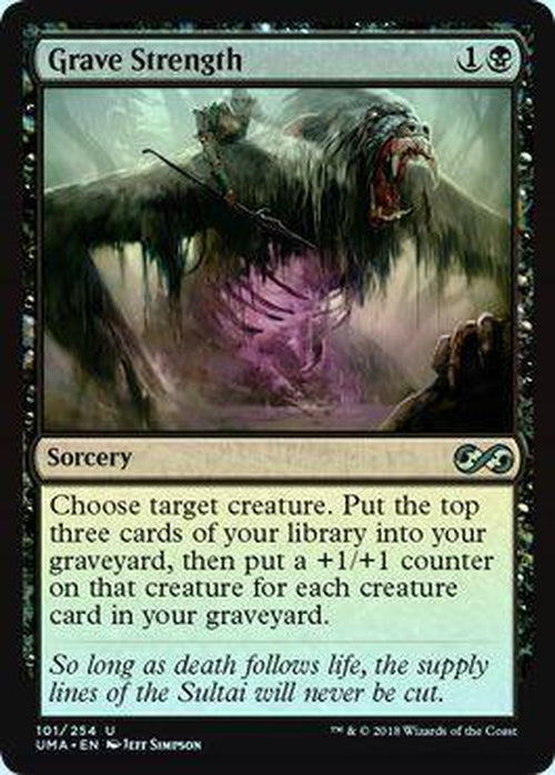 Grave Strength 101/254 - UMA - Foil-Cherry Collectables