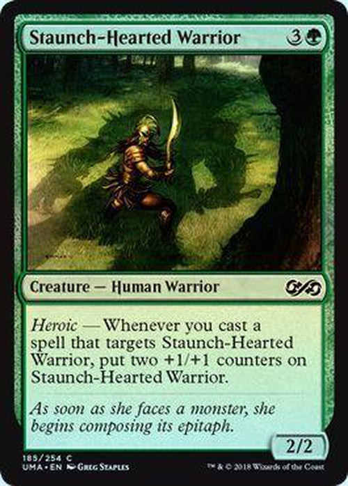 Staunch-Hearted Warrior 185/254 - UMA - Foil-Cherry Collectables