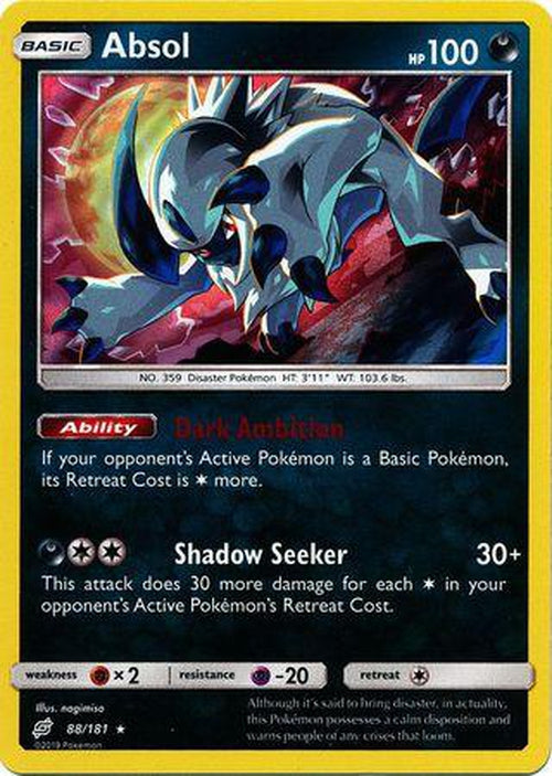 Absol - 88/181 - Holo Rare - Team Up-Cherry Collectables
