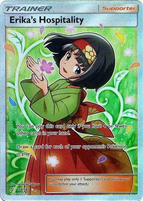 Erika`s Hospitality - 174/181 - Full Art Ultra Rare-Cherry Collectables