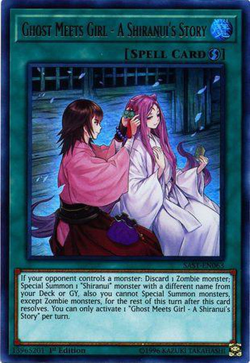 Ghost Meets Girl - A Shiranui's Story - SAST-EN000 - Ultra Rare 1st Edition-Cherry Collectables