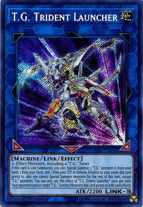 T.G. Trident Launcher - SAST-EN000 - Secret Rare 1st Edition-Cherry Collectables