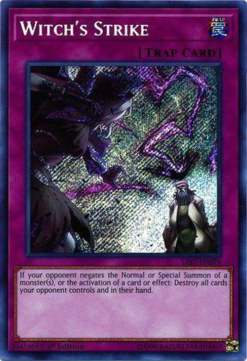 Witch's Strike - SAST-EN079 - Secret Rare 1st Edition-Cherry Collectables
