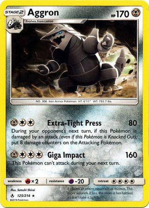 Aggron - 125/214 - Rare - SM:UB-Cherry Collectables