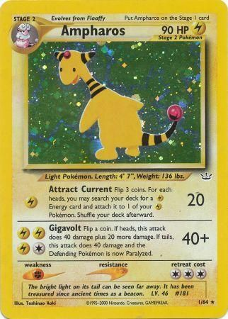 Ampharos - 1/64 - Holo Unlimited-Cherry Collectables
