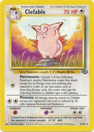 Clefable - 17/64  - Rare Unlimited