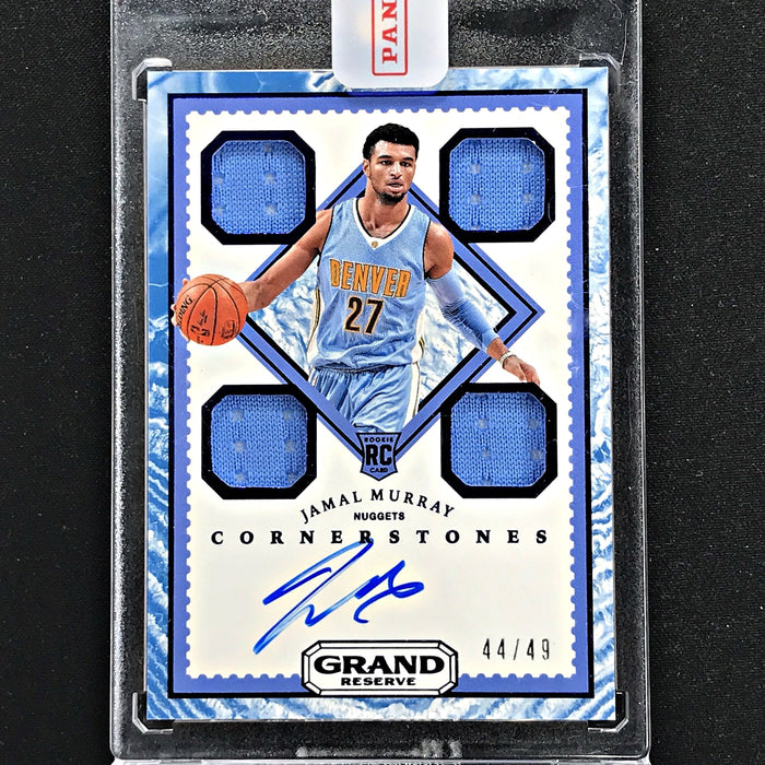 2016-17 Grand Reserve JAMAL MURRAY Quad Rookie Jersey Auto 44/49-Cherry Collectables