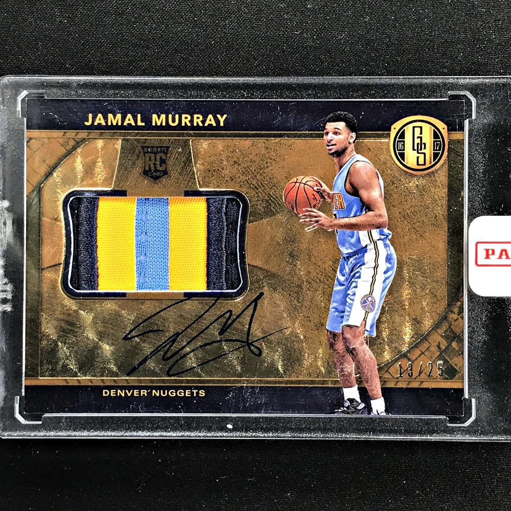 2016-17 Gold Standard JAMAL MURRAY Rookie Patch Auto 13/25-Cherry Collectables