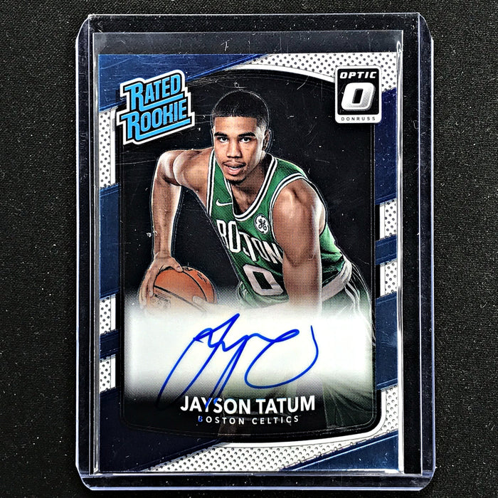 2017-18 Optic JAYSON TATUM Rated Rookie Auto #198-Cherry Collectables