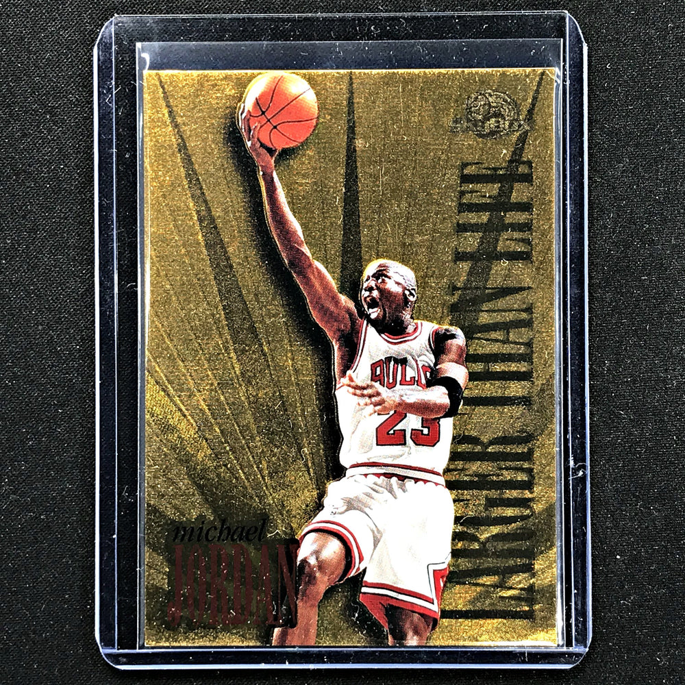 1995 Skybox MICHAEL JORDAN Larger Than Life Gold #L1-Cherry Collectables