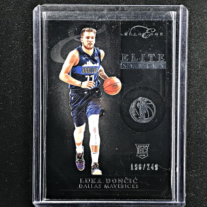 2018-19 Chronicles Elite LUKA DONCIC Black Box Rookie 198/249-Cherry Collectables