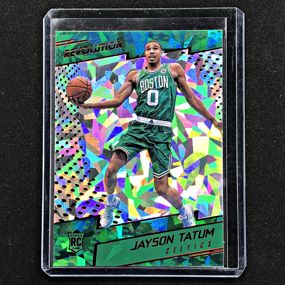 2017-18 Revolution JAYSON TATUM Red Cracked Ice Rookie #121-Cherry Collectables